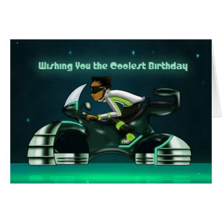 """""""Wishing You the Coolest Birthday"""" Greeting Card"""