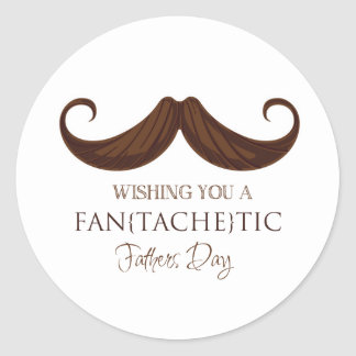 Wishing you to fan [erases] tic Father's Day Round Sticker