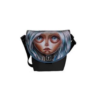 Wisp Pop Surrealism Big Eyed Art Messenger Bag