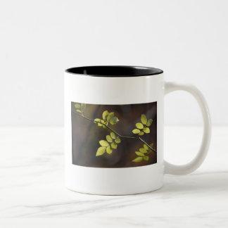 Wispy Leaves Two-Tone Coffee Mug