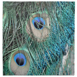 Wispy Peacock Feathers Napkin