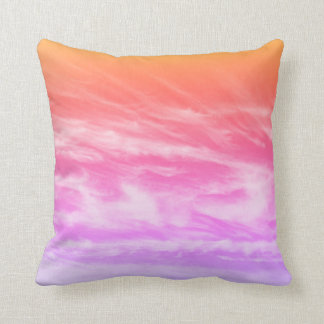 Wispy Sunset Clouds Throw Pillow