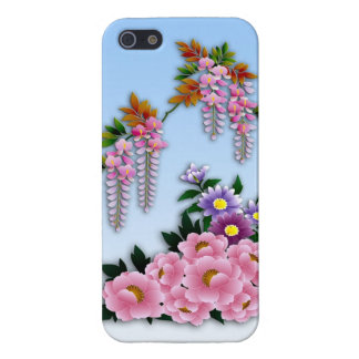 Wisteria and peonies spring blossom iPhone 5/5S case