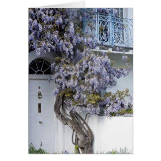 Wisteria balcony card