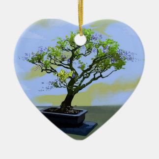 Wisteria Bonsai Tree Christmas Ornaments