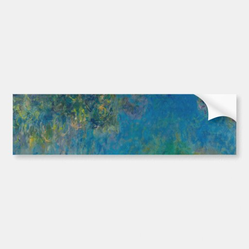 Wisteria by Claude Monet Bumper Stickers