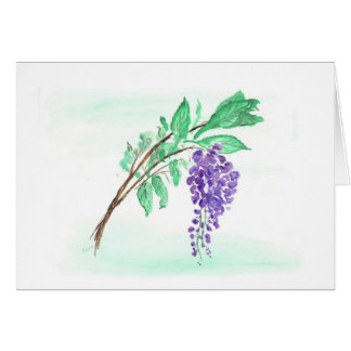 Wisteria Card, Horizontal Card