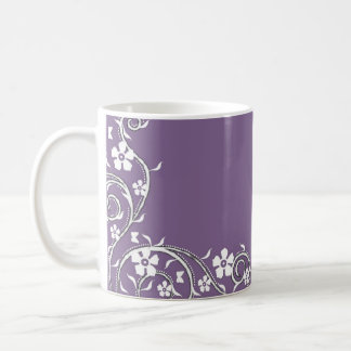 Wisteria Floral Swirls Coffee Mug