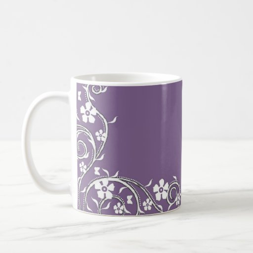 Wisteria Floral Swirls Coffee Mug