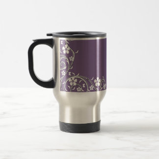 Wisteria Floral Swirls Travel Mug