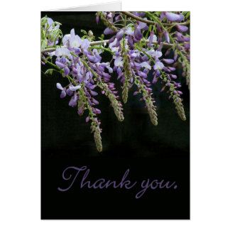 Wisteria Floral Thank You card