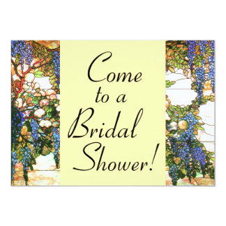 Wisteria Flowers Floral Bridal Shower Invitation