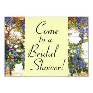Wisteria Flowers Floral Bridal Shower Invitation
