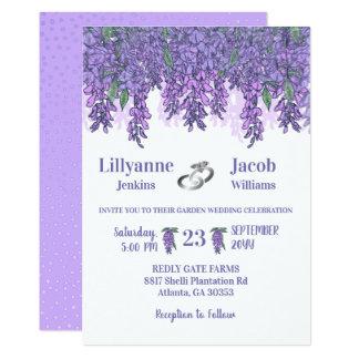 Wisteria Garden Celebration Wedding Card