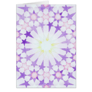 'Wisteria' Islamic geometry greeting card