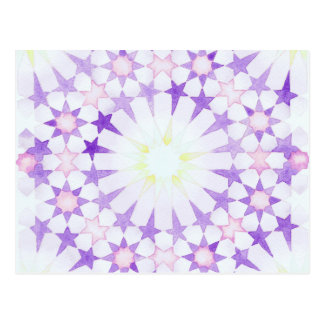 'Wisteria' Islamic geometry postcard