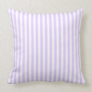 Wisteria Lilac Lavender Orchid & White Stripe Cushion
