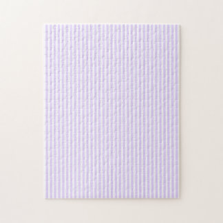 Wisteria Lilac Lavender Orchid & White Stripe Jigsaw Puzzles