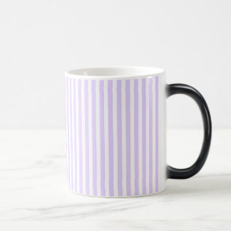 Wisteria Lilac Lavender Orchid & White Stripe Morphing Mug