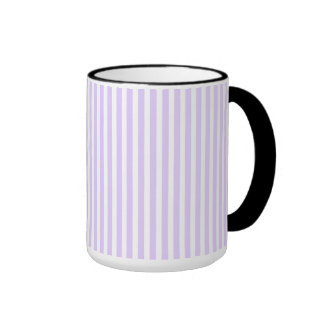 Wisteria Lilac Lavender Orchid & White Stripe Ringer Mug