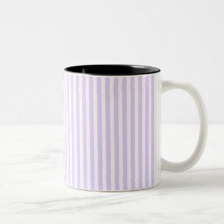Wisteria Lilac Lavender Orchid & White Stripe Two-Tone Mug