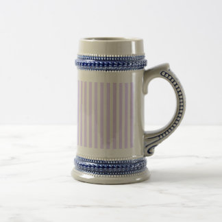 Wisteria Lilac Lavender Orchid & White Stripe Beer Steins