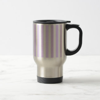 Wisteria Lilac Lavender Orchid & White Stripe Stainless Steel Travel Mug