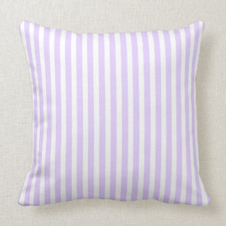 Wisteria Lilac Lavender Orchid & White Stripe Throw Pillow