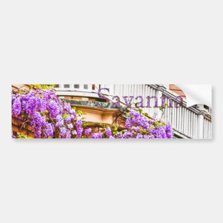Wisteria on a Vintage Southern  Home in Savannah Bumper Stickers