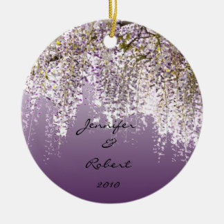 Wisteria on Lavender Christmas Ornament