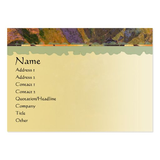 Wisteria Profile Card Pack Of Chubby Business Cards