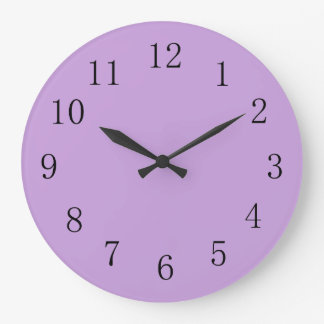 Wisteria Purple Solid Color Large Clock