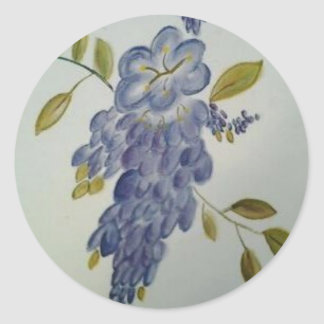 Wisteria Round Sticker