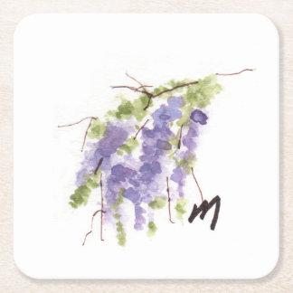 Wisteria Square Paper Coaster