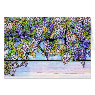 Wisteria Tiffany Stained Glass Card