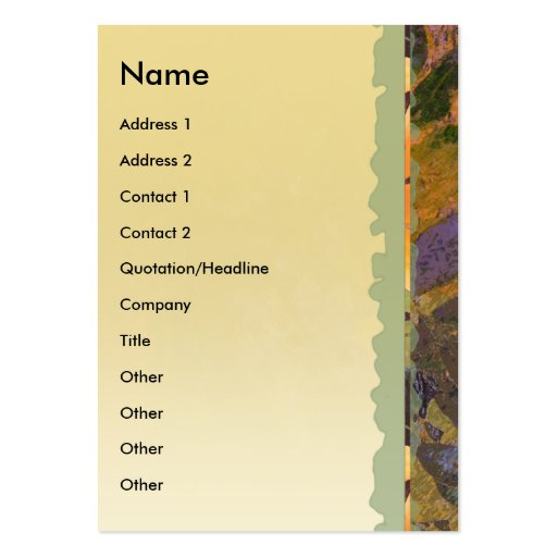 Wisteria Vertical Profile Card Pack Of Chubby Business Cards