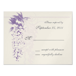 Wisteria Wedding/ Response Card