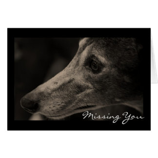 Wistful Greyhound Love Customizable Greeting Cards