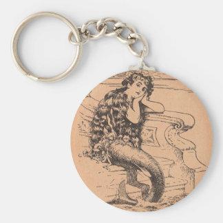 Wistful Mermaid Key Ring