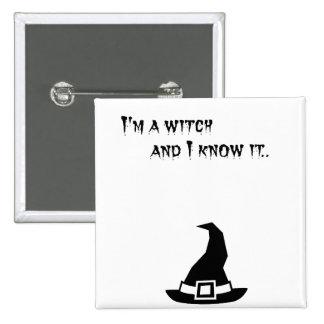 Witch 15 Cm Square Badge