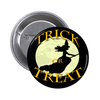 witch-across-the-moon-stamp 6 cm round badge