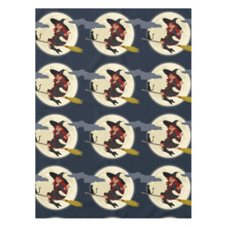 Witch And Black Cat Design Table Cloth