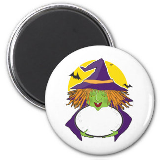 Witch and Cauldron Magnet
