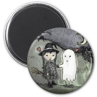 Witch and Ghost in Love Magnet