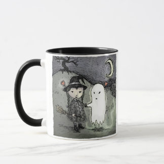 Witch and Ghost in Love Mug