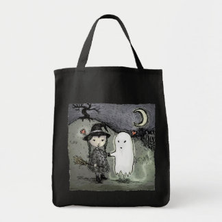 Witch and Ghost in Love Tote Bag