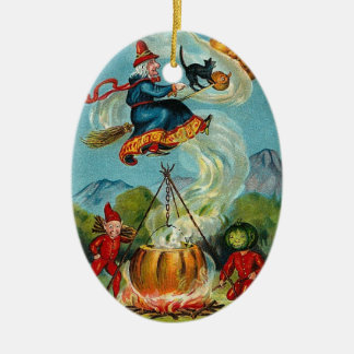 Witch and Imps Ornament