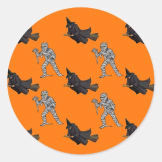 Witch and Mummy Pattern Stickers