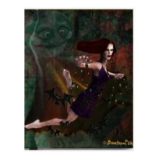 Witch and the Moon Postcard