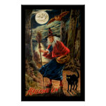 Witch at Halloween Night Print